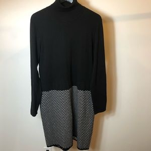Ralph Lauren color block long sleeve dress XL